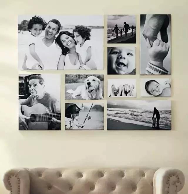 一家人的照片,布置出一面温馨的照片墙! - 生活 - 午